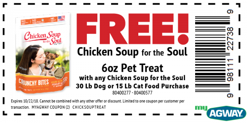 FREE! Chicken Soup for the Soul 6oz Pet Treat