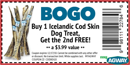 BOGO Icelandic Cod Skin Dog Treats