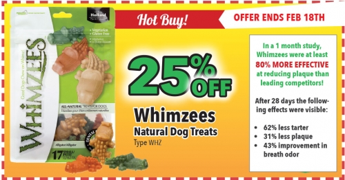 HOT BUY! - 25% Off Whimzees Dog Treats