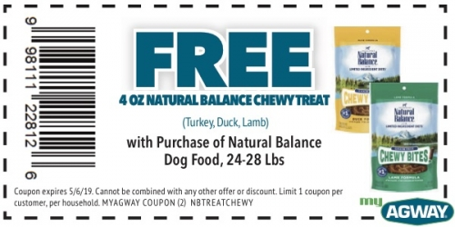 Free 4oz Natural Balance Chewy Treat with Purchase