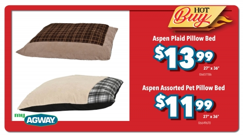 Aspen Assorted Pet Pillow Bed 27