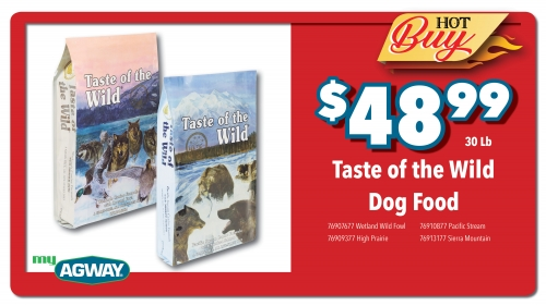 Taste of the Wild Dog Food, 30 Lb