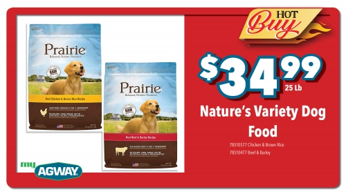 Natures Variety Dog Food, 25 Lb