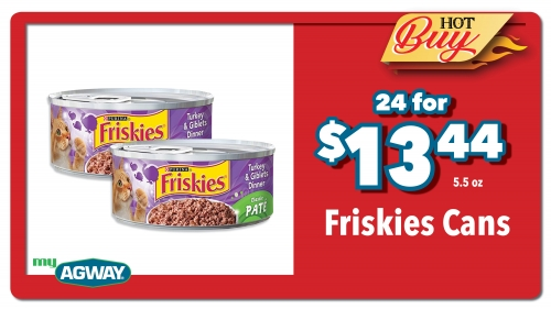 Friskies Cans 24 for $13.44