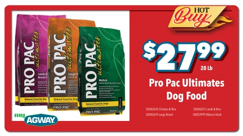 Pro Pac Ultimates Dog Food, 28Lb