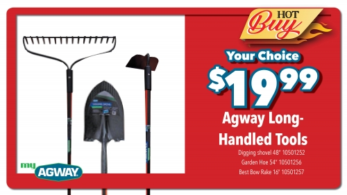 Agway Long Handled Tools - Your Choice - $19.99