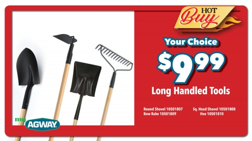 Long Handled Tools -Your Choice - $9.99