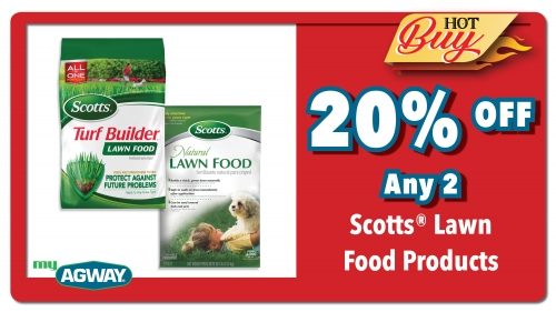 20% OFF- Any 2 Scotts Lawn Food Products
