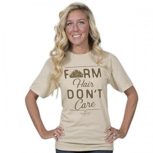 Simply Southern Tee – Farm Hair Don't Care