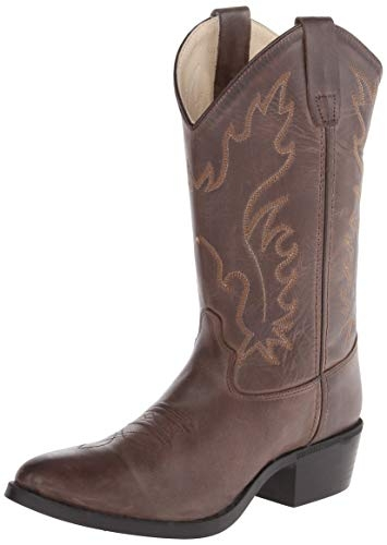 Old West Youth Distressed Brown Boot