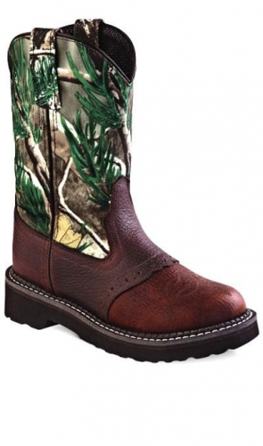 Old West Infant Briar Camo Boot