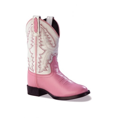 Old West Youth Pink Western Boot