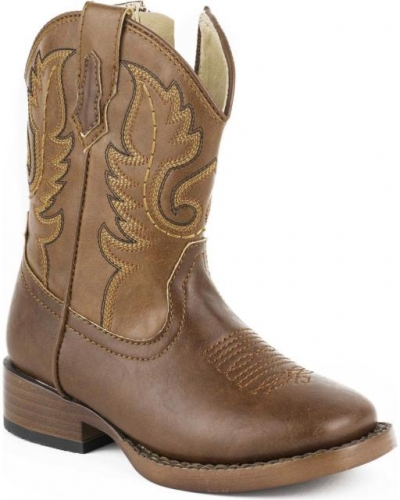 Roper Youth Stitch Brown Boot