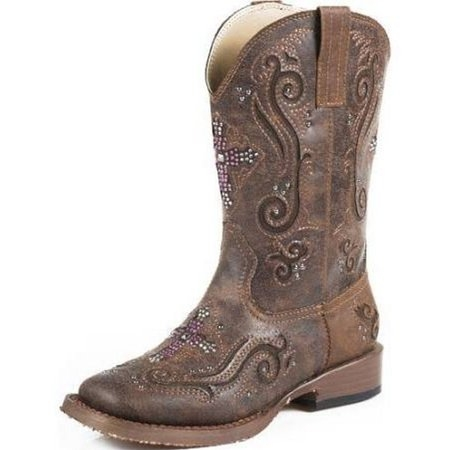 Roper Youth Crystal Cross Bling Boot