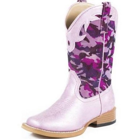 Roper Youth Pink Glitter Camo Boot