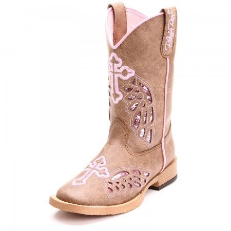Blazin Roxx Youth Gracie Wings and Cross Inlay Boot