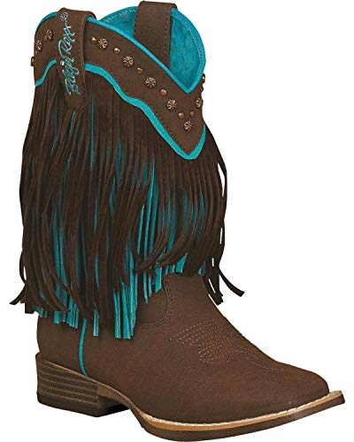 Blazin Roxx Youth Candace Zipper Fringe Boot