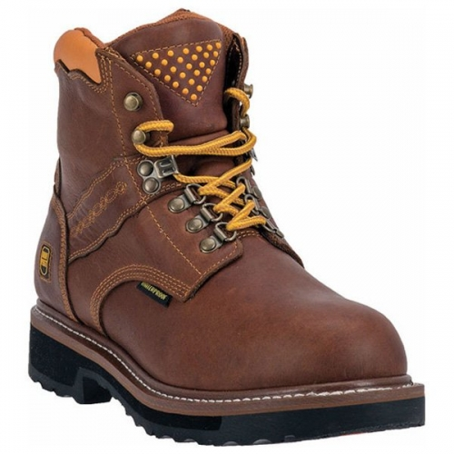 Dan Post Men's Waterproof Gripper Zipper Lace-Up Workboot