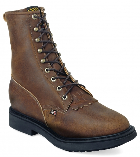 Justin Men's Conductor Brown Lace-Up Workboot