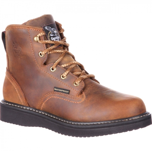Georgia Boot Men's Waterproof Wedge Lace-Up Workboot