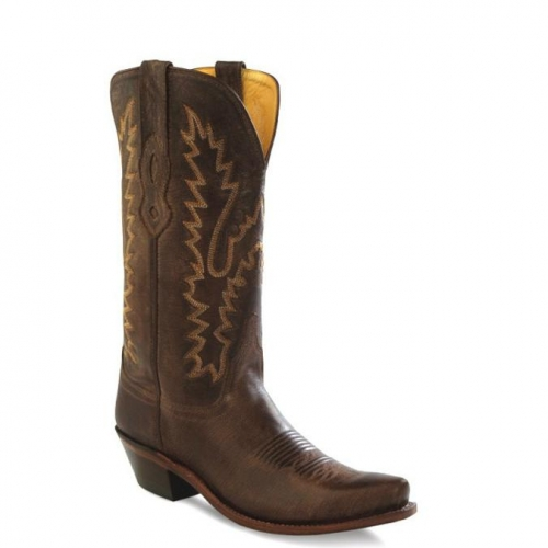 Old West Women's Chocolate Leather Boot