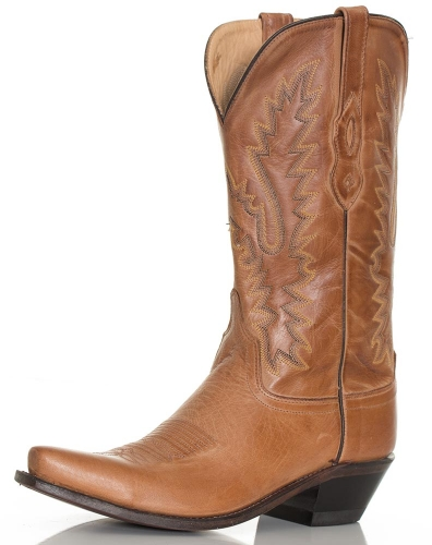 Old West Women's Tan Leather Boot