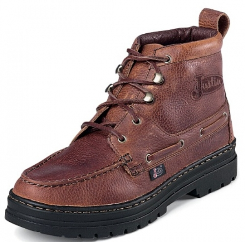 Justin Men's Chip Brown Lace-Up Boot