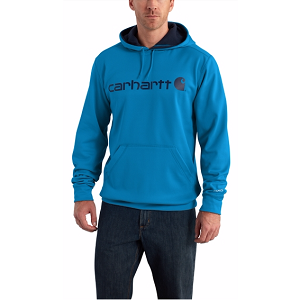 Carhartt Force Extremes Signature Graphic Hooded Sweatshirt – Blue