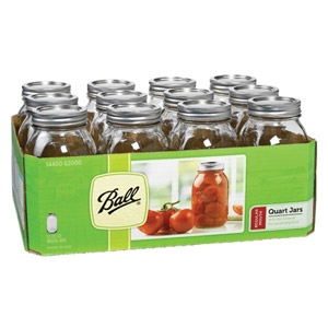 Ball® Regular Mouth Mason Jars with Lids 1qt 12/pk