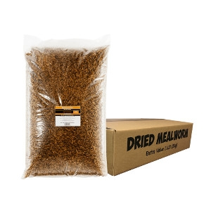 Unipet USA Dried Mealworms 11 lb Value Box