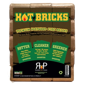 Hot Bricks Premium Hardwood Fire Bricks 15 Pack