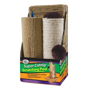 "Four Paws® Super Catnip® 21"" Carpet and Sisal Scratching Post"