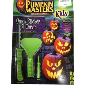 Pumpkin Masters Quick Sticker & Carve Kit