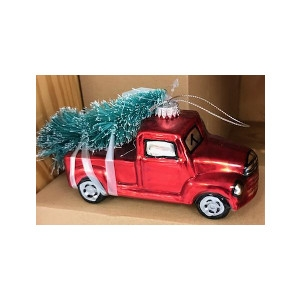 Vintage Pickup Truck with Tree Ornament