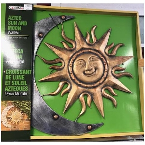 Aztec Sun and Moon WallArt