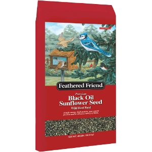 Feathered Friend Black Oil Birdseed 40lb $22.99