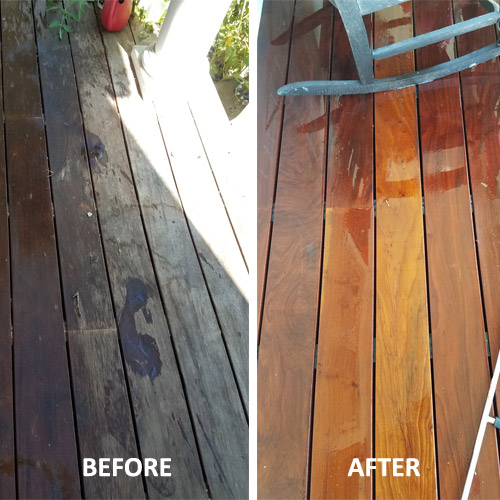 pressure washing before and after image