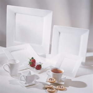 Contemporary Square White China