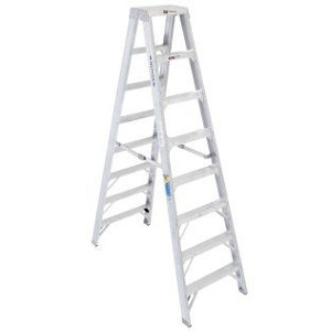 8' Double Step Aluminum Twin Ladder