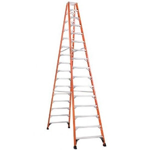 16' Fiberglass Twin Front Step Ladder