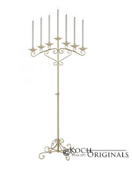 7-Lite Fan Floor Candelabra Pair