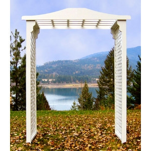 White Wooden Cape Winds Arch