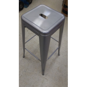 Stool, Metal Bar Stool Gunmetal Gray