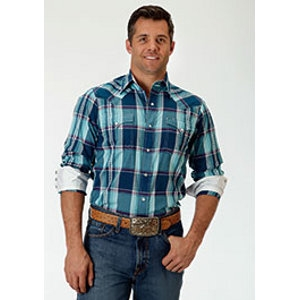 Mens Long-Sleeve Snap Shirt - 2 Pocket
