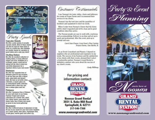 Party & Event Planning Flyer