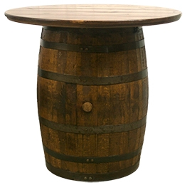 Whiskey Barrel Table