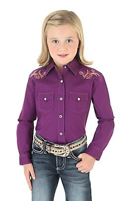 Rock47 Long Sleeve Button Down with Embroidered Yokes