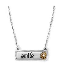 Brighton Note Tags Smile Necklace