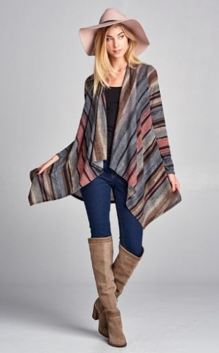 Multi Striped Cardi