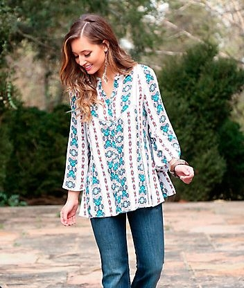 Flutter Sleeve All Over Print Top